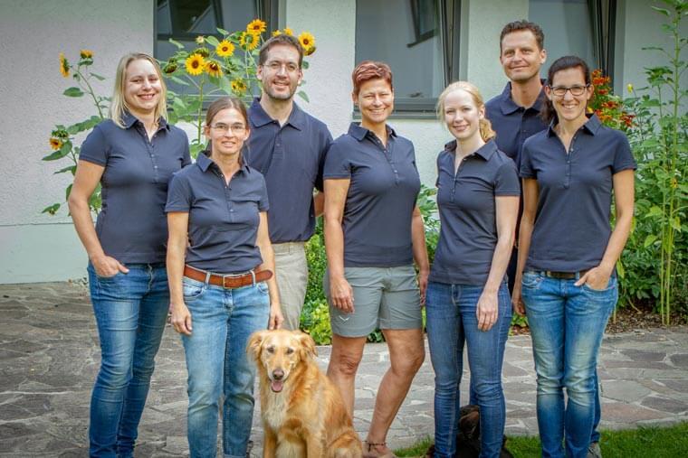 Teamfoto Tiearztpraxis in Landshut